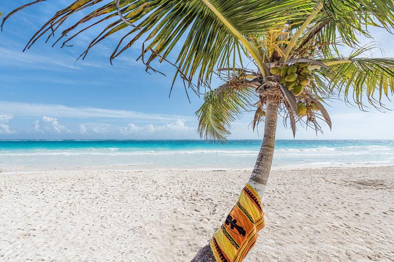 Der <strong>Playa Paraiso</strong> in Tulum  zählt zu den schönsten Stränden der Karibik